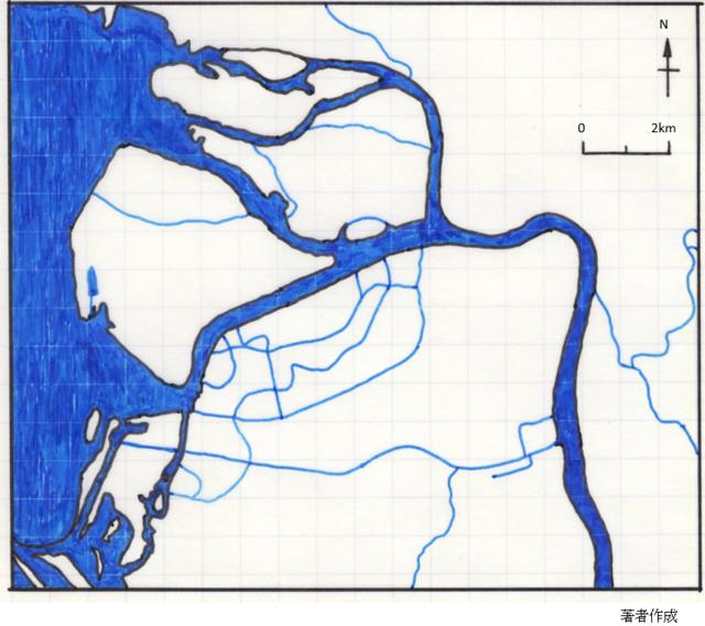 若井図3サンクトペテルブルクの主な河川と運河網.PNG